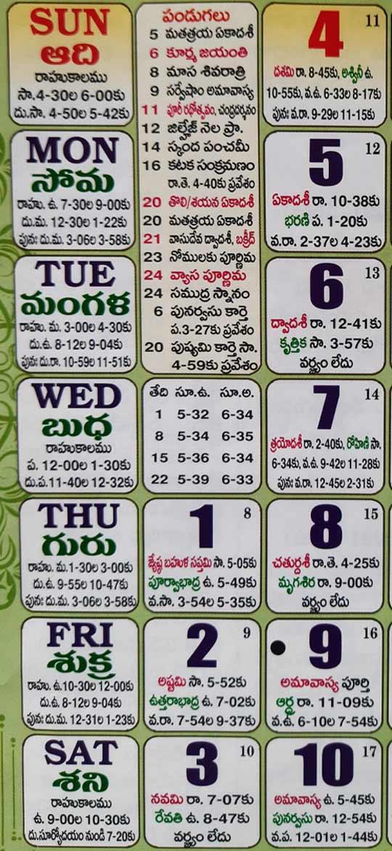 2021 July Telugu Calendar Telugu Panchangam