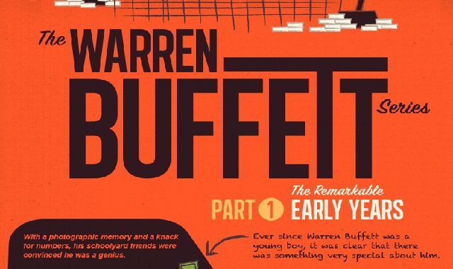 The Warren Buffett Series Part 1: The Early Years #infographic