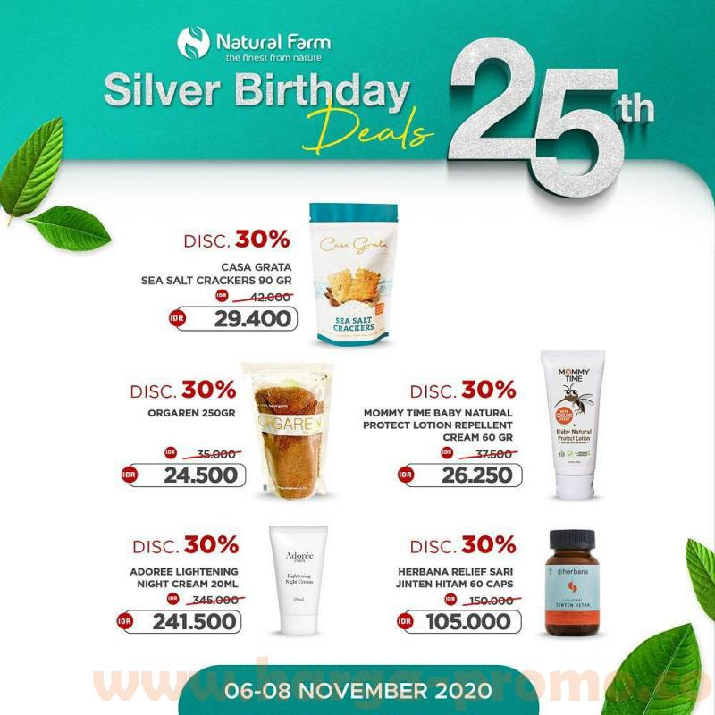 Natural Farm Promo Silver Birthday Deals 25th