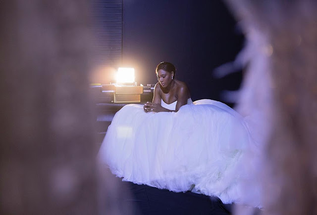 Tennis Ace Serena's Princess Wedding Gown