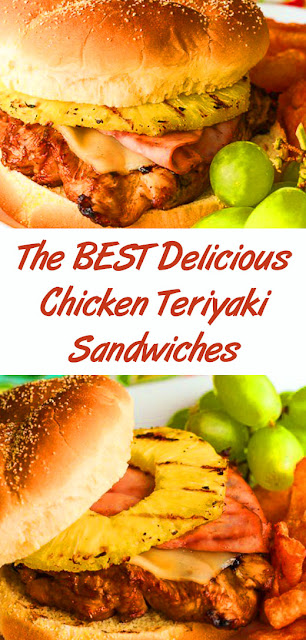 The BEST Delicious Chicken Teriyaki Sandwiches #best #sandwiches #easysandwiches #dinner #easydinner #chickenteriyaki #delicious #whole30