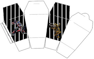 "Caja tipo ""de comida china""de Transformers."