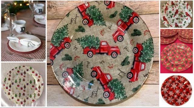DIY Χριστουγεννιάτικα Πιάτα-Πιατέλες με Ύφασμα