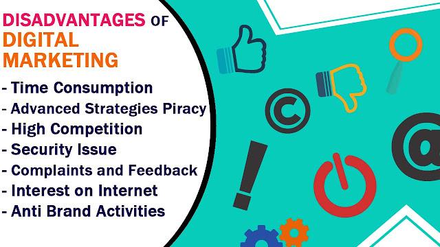 Cons of Digital Marketing, Digital marketing cons