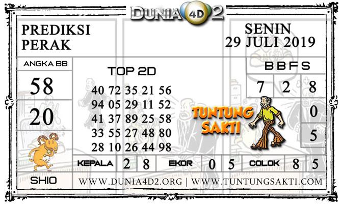 """Prediksi Togel """"PERAK"""" DUNIA4D2 29 JULI 2019"""