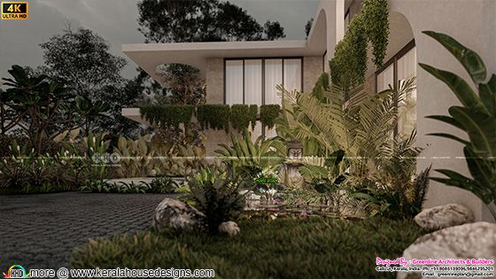 Tropical contemporary style design element