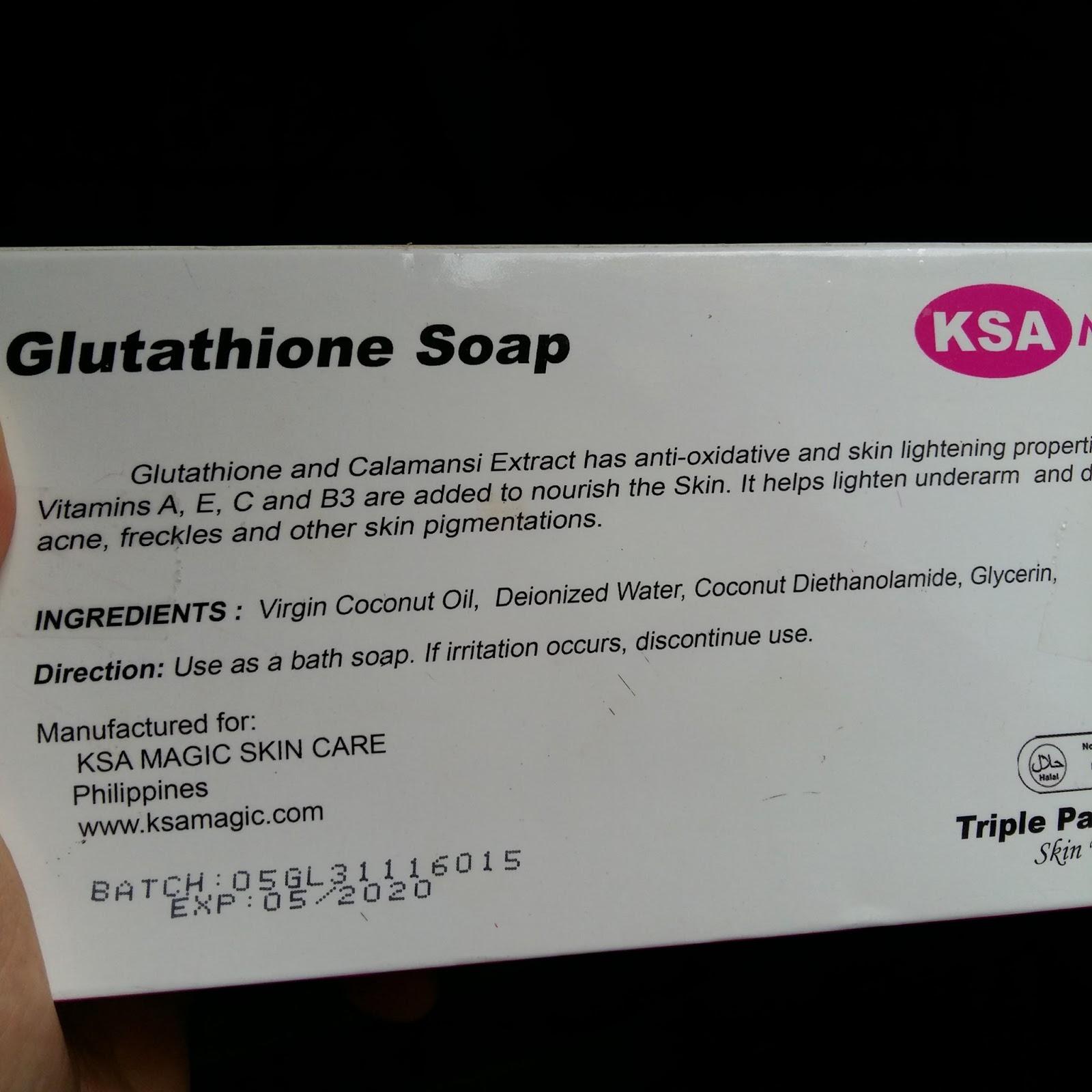 KSA Magic Glutathione Soap Review - Vanity Room Philippines