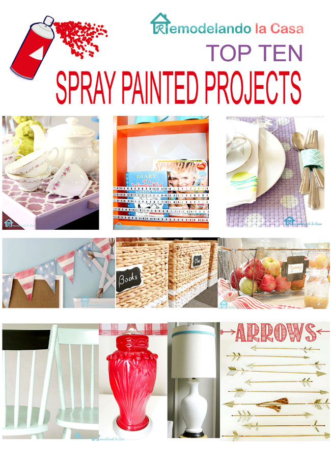 Easy spray painted projects for your home