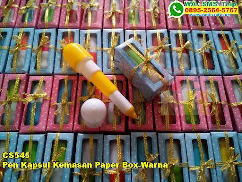 Grosir Pen Kapsul Kemasan Paper Box Warna