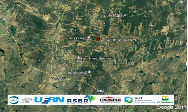 Tremor de terra é registrado nesta segunda-feira no Município de Caraúbas, RN