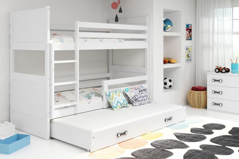Łóżko piętrowe sposobem na większą przestrzeń w pokoju dzieci