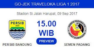 Prediksi Persib Bandung vs Semen Padang 9 September 2017