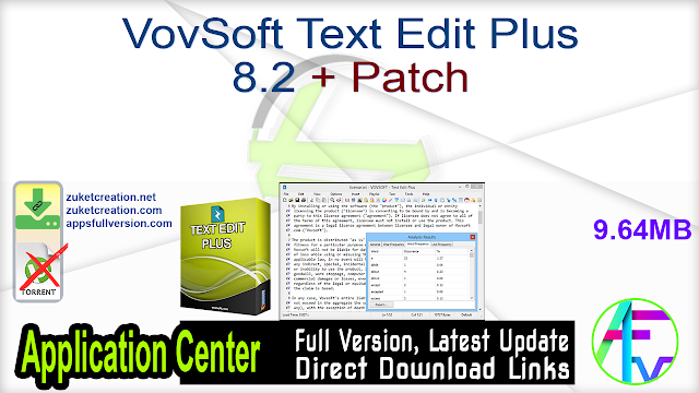 VovSoft Text Edit Plus 8.2 + Patch