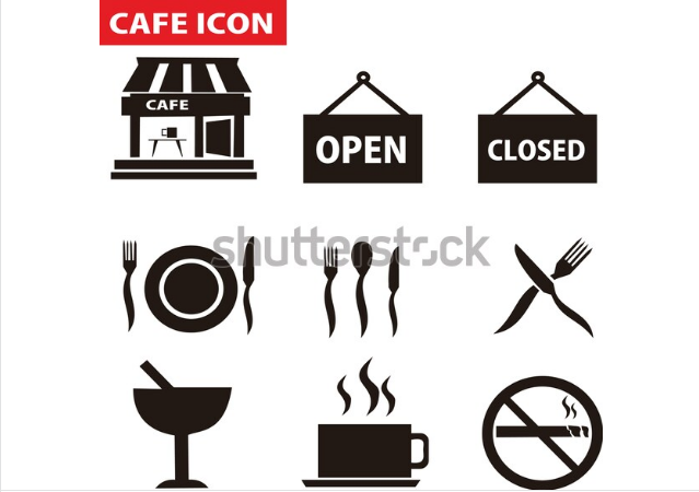 illustration graphic design cafe icon