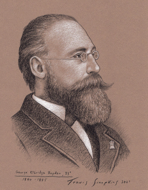 George Elbridge Boyden, 33°. Valley of Worcester, Massachusetts. Scottish Rite, NMJ. by Travis Simpkins