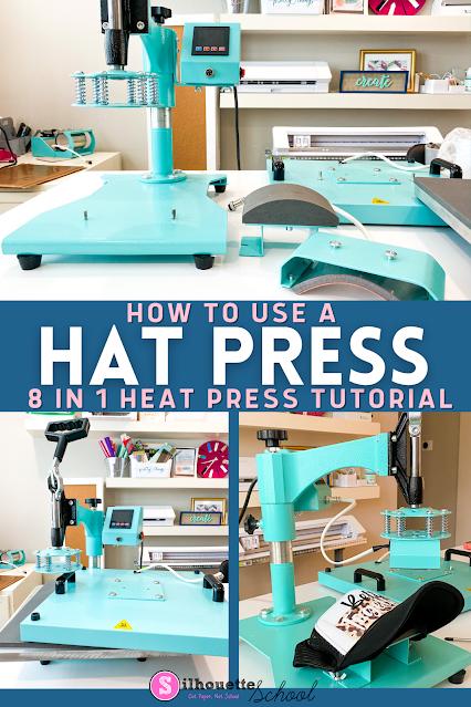 silhouette 101, silhouette america blog, silhouette and sublimation, heat press, 8-in-1 heat press