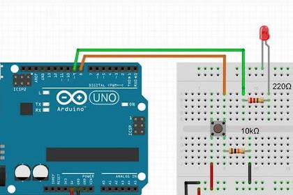 Project Arduino - Implementasi IF Pada Tombol Pengendali LED