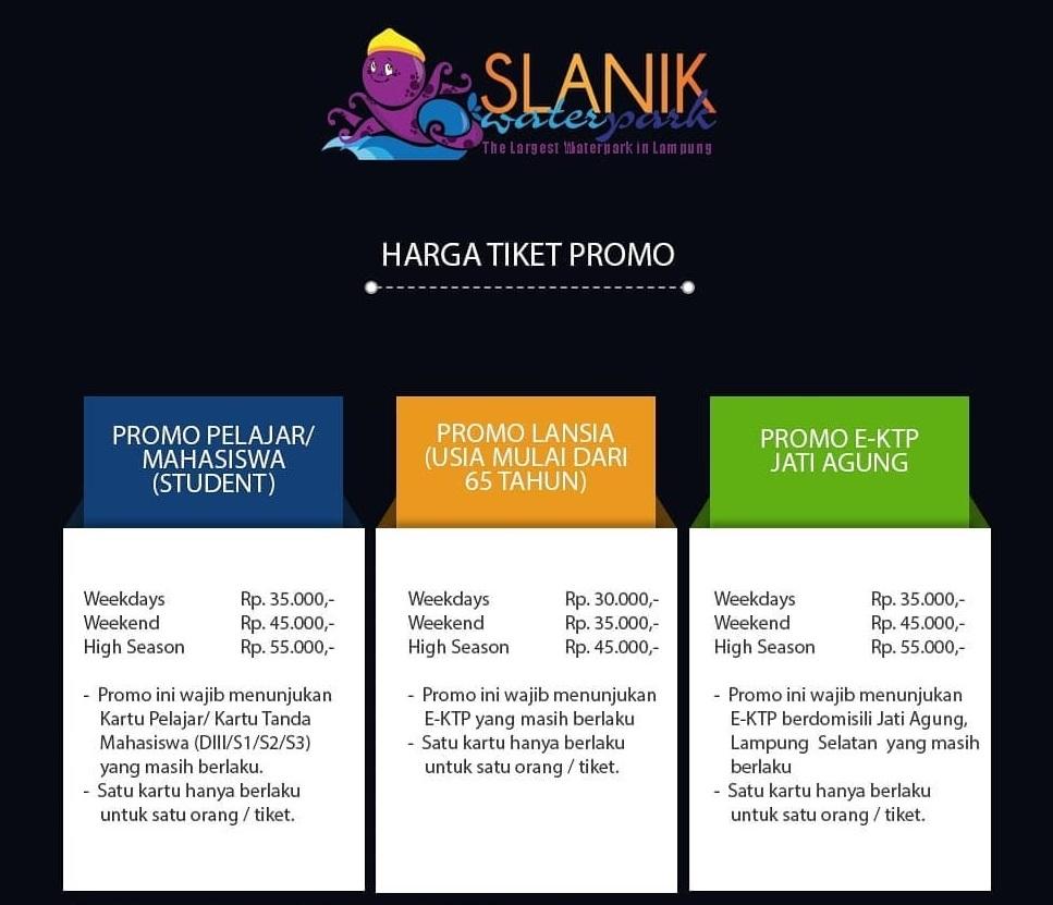 Promo Tiket Slanik Waterpark Lampung