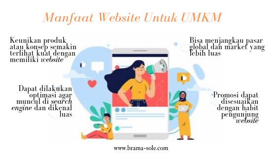 UMKM bisa menjangkau pasar yang lebih luas dengan memiliki website