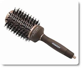 Fixbody Round Barrel Anti-Static Hair Brush with Boar Bristles