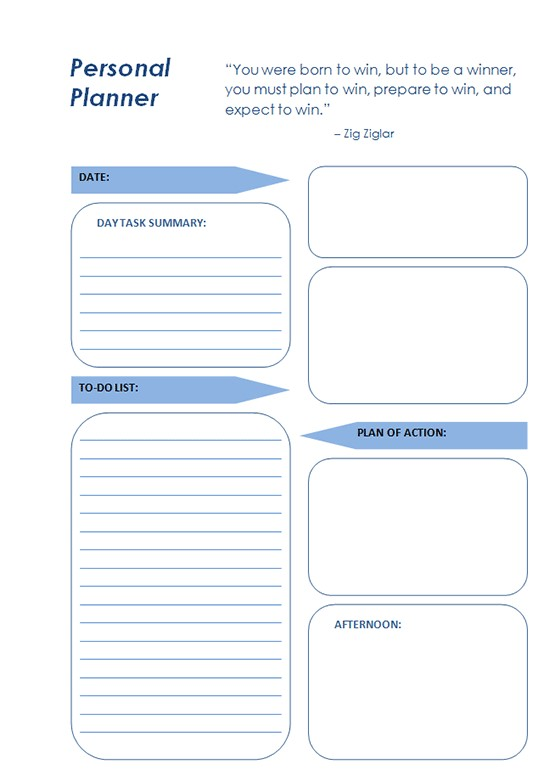 Free Daily Planner Templates Download