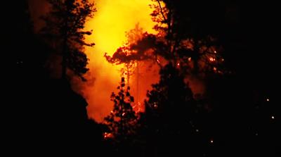 Cientos de personas evacuadas, incendio La Palma agosto 2016