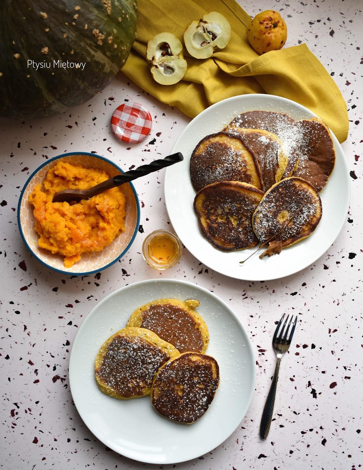 sniadanie, placki, otysiu mietowy, dynia