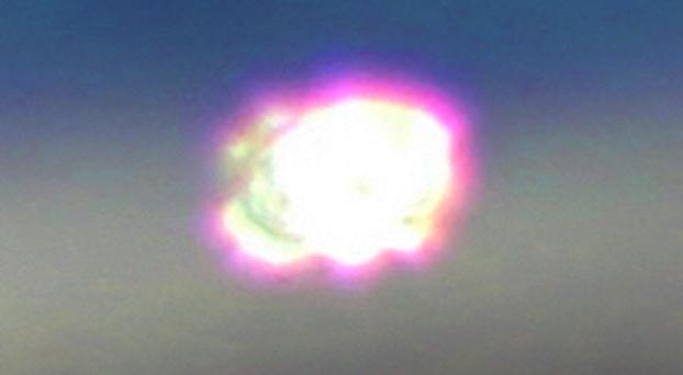 OVNI resplandeciente en las nubes sobre Colorado el 9 de abril de 2021 8