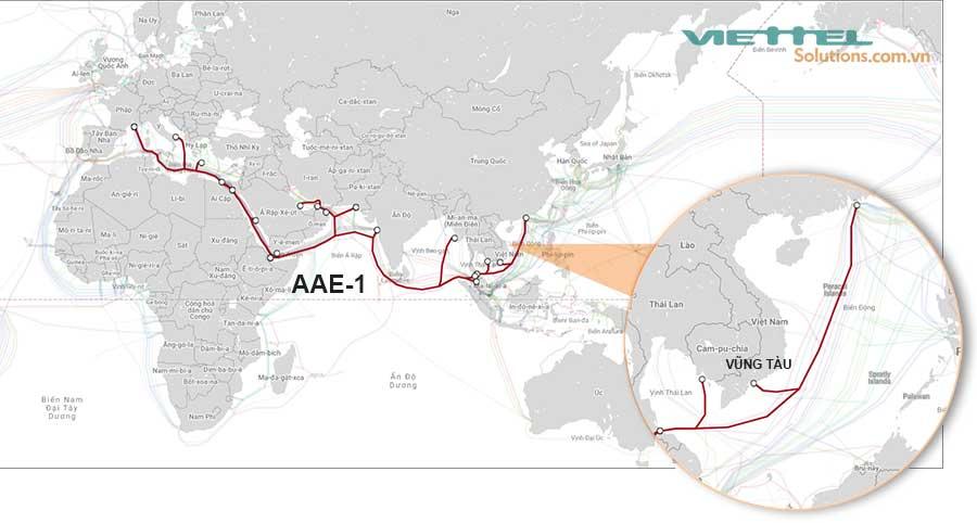 Hình 3 - Cáp quang biển AAE-1 (Asia Africa Europe 1)