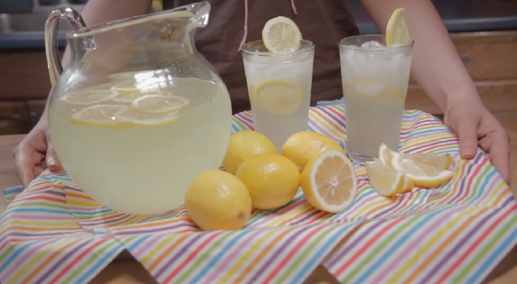 Perfect lemonade for cooling off on hot summer days