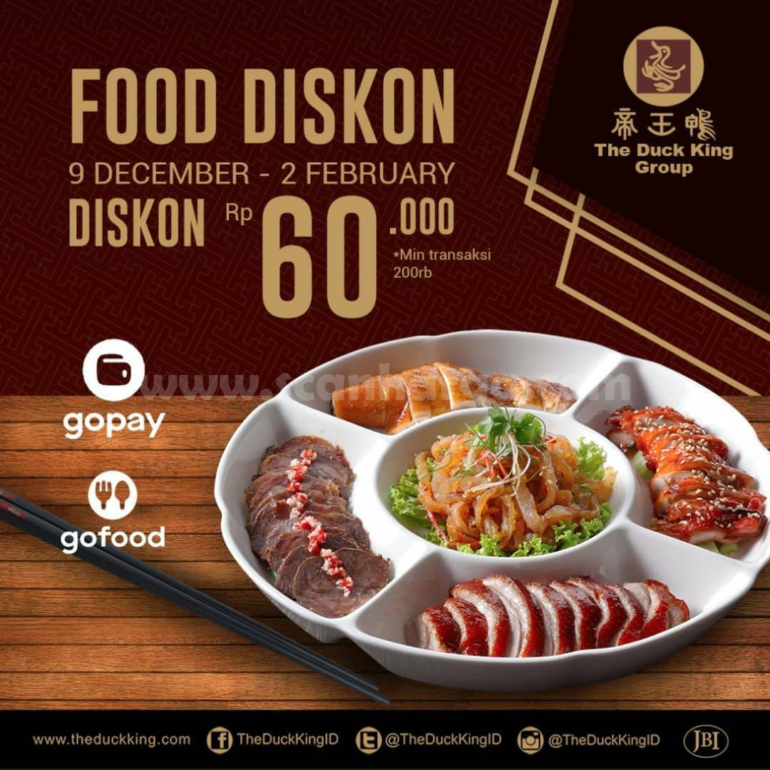 The Duck King FOODISKON Promo Diskon Rp 60.000 via Gofood