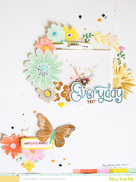 "3 to Inspire with Kathleen ""Everyday Moments"" Layout 