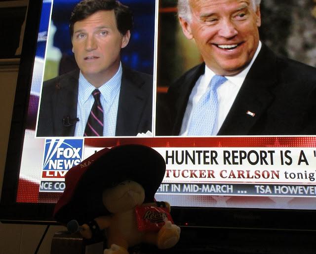 Ludwig Von Koopa Plushwig Reese's Peanut Butter Cup Tucker Carlson Tonight MAGA Hat Fox News Joe Hunter Biden