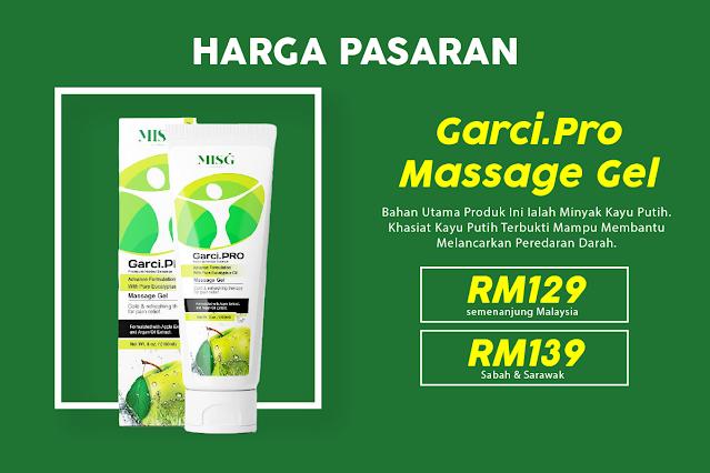 Harga Promosi Garci.Pro Massage Gel Solusi Rawatan Kebas