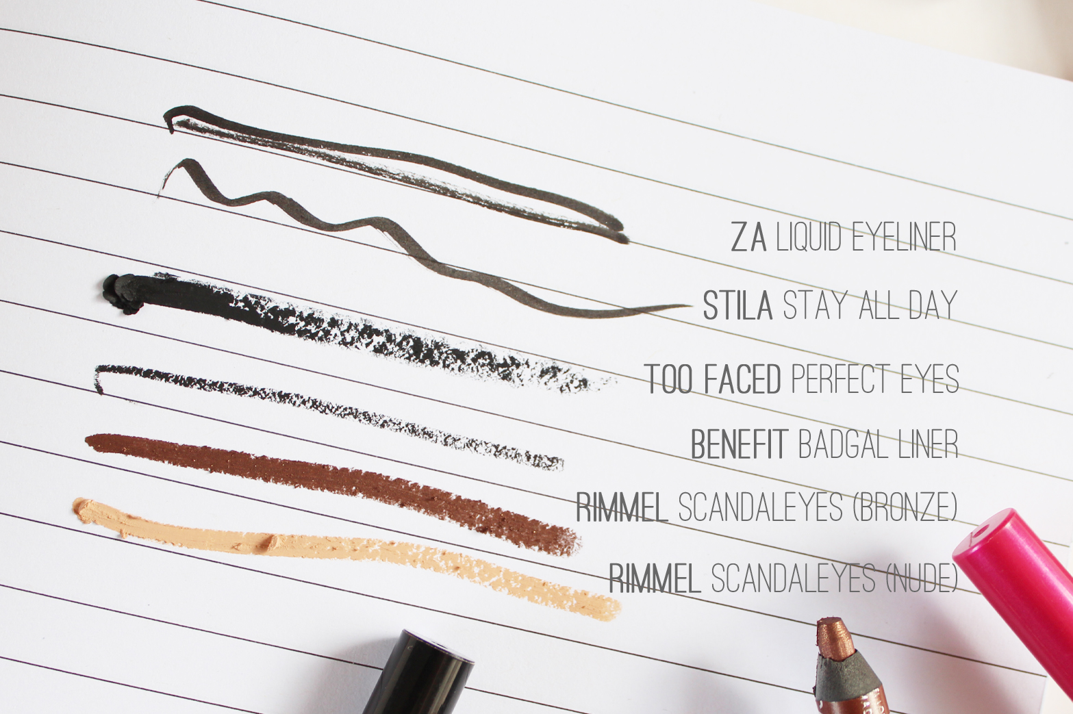 CURRENT FAVOURITE EYELINERS [LIQUID + PENCIL] - ZA, Stila, Too Faced, Benefit, Rimmel - CassandraMyee