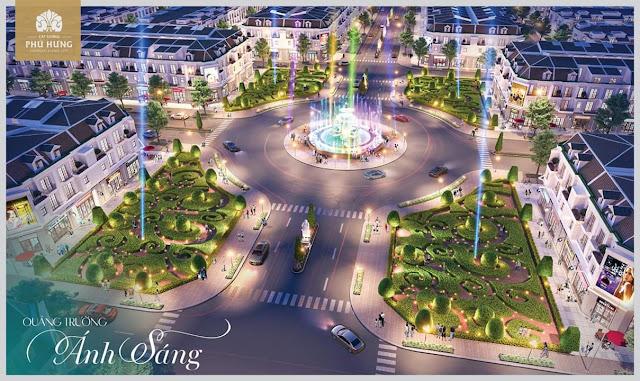 Bán đất sổ đỏ TP Đồng Xoài, Bình Phước: Quảng trường Ánh Sáng tại dự án Cát Tường Phú Hưng
