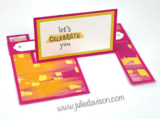 Stampin' Up! Hey Birthday Chick Impossible Card + Video Tutorial ~ www.juliedavison.com #stampinup #funfold #heybirthdaychick