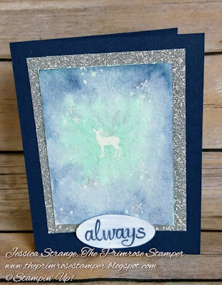 A Patronus Card made with the Carols of Christmas stamp set by Stampin' Up!