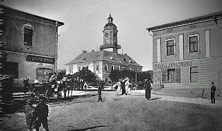 Дрогобыч. Вид на городскую ратушу со стороны Собора Пресвятой Троицы