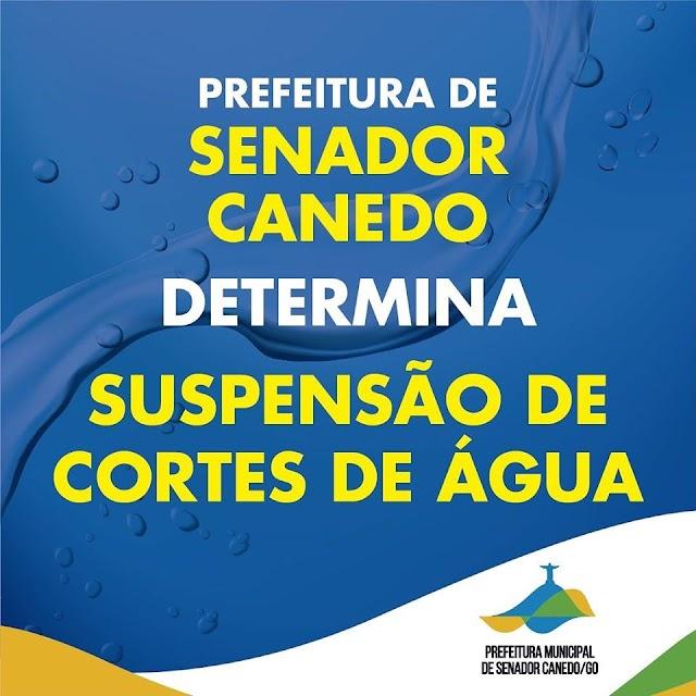 Senador Canedo: Prefeitura determina suspensão de cortes de água durante quarentena