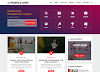Purple AMP Responsive Blogger Template Free Download