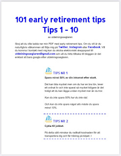101 early retirement tips, del 1