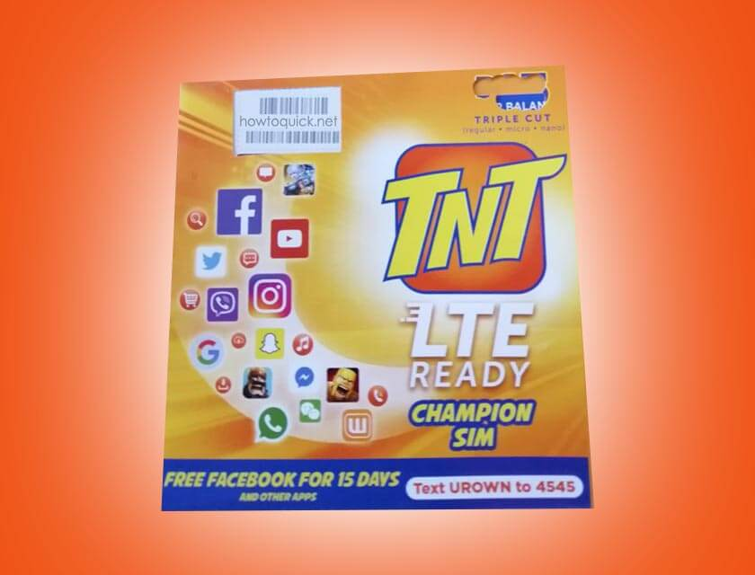 Activate TNT SIM card