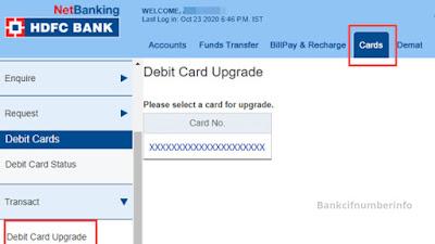 Reset HDFC Debit Card PIN - Internet Banking