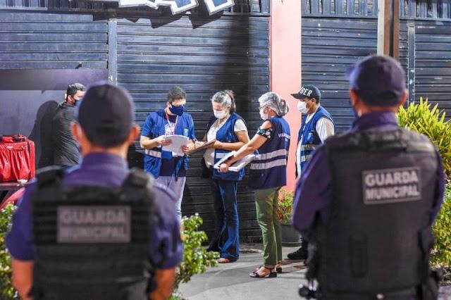 Prefeitura de São Luís segue com fiscalização a estabelecimentos comerciais como medida de combate à Covid