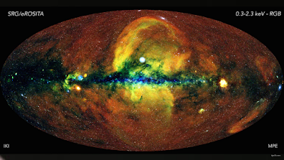The eROSITA X-ray telescope captures the hot and energetic universe