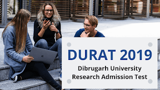 DURAT  Examination held on 19th July 2019 for Admission to the Master of Philosophy (M.Phil) and Doctor of Philosophy (Ph.D.) Programs in academic session 2019-2020