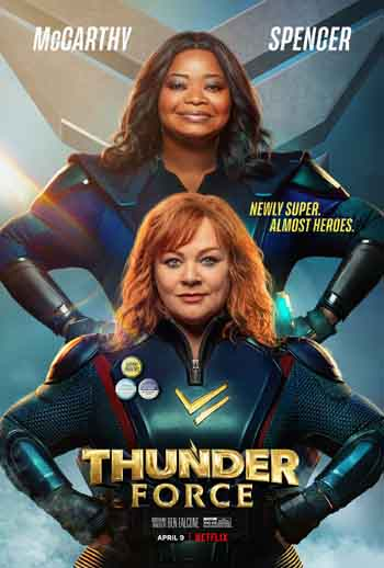 Thunder Force 2021 480p 350MB BRRip Dual Audio [Hindi - English]