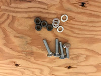 1/2 inch bolts, lock washers and nuts