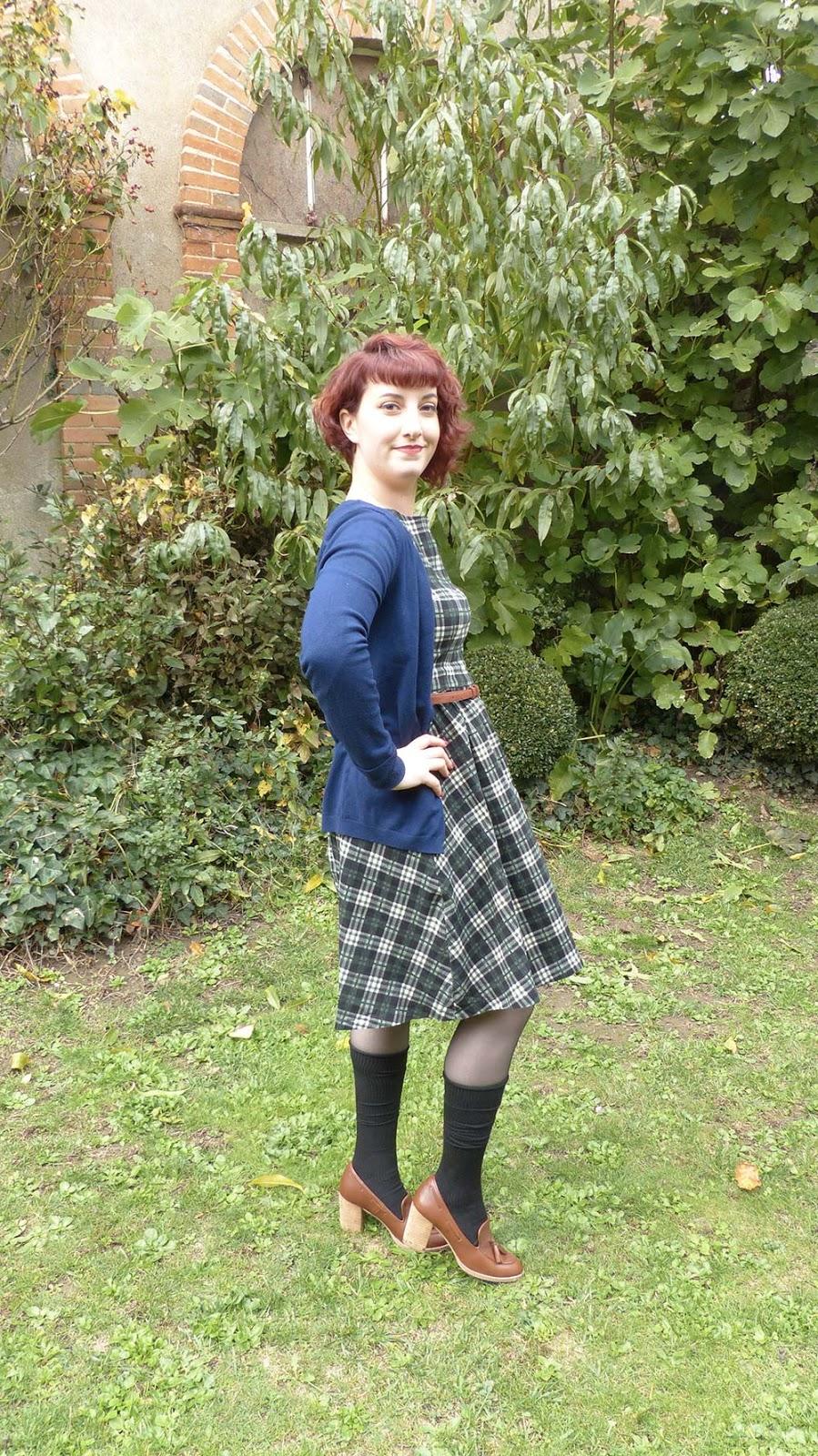 look vintage chaussettes hautes